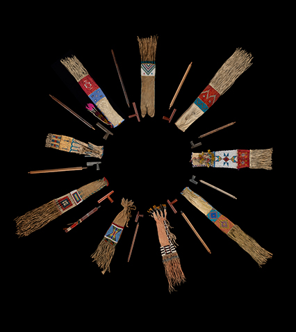 Plains Nations' pipes and pipe bags