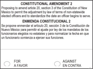 NM Constitutional Amendment 2 Passes