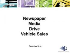 Newspaper Media Drive Vehicle Sales