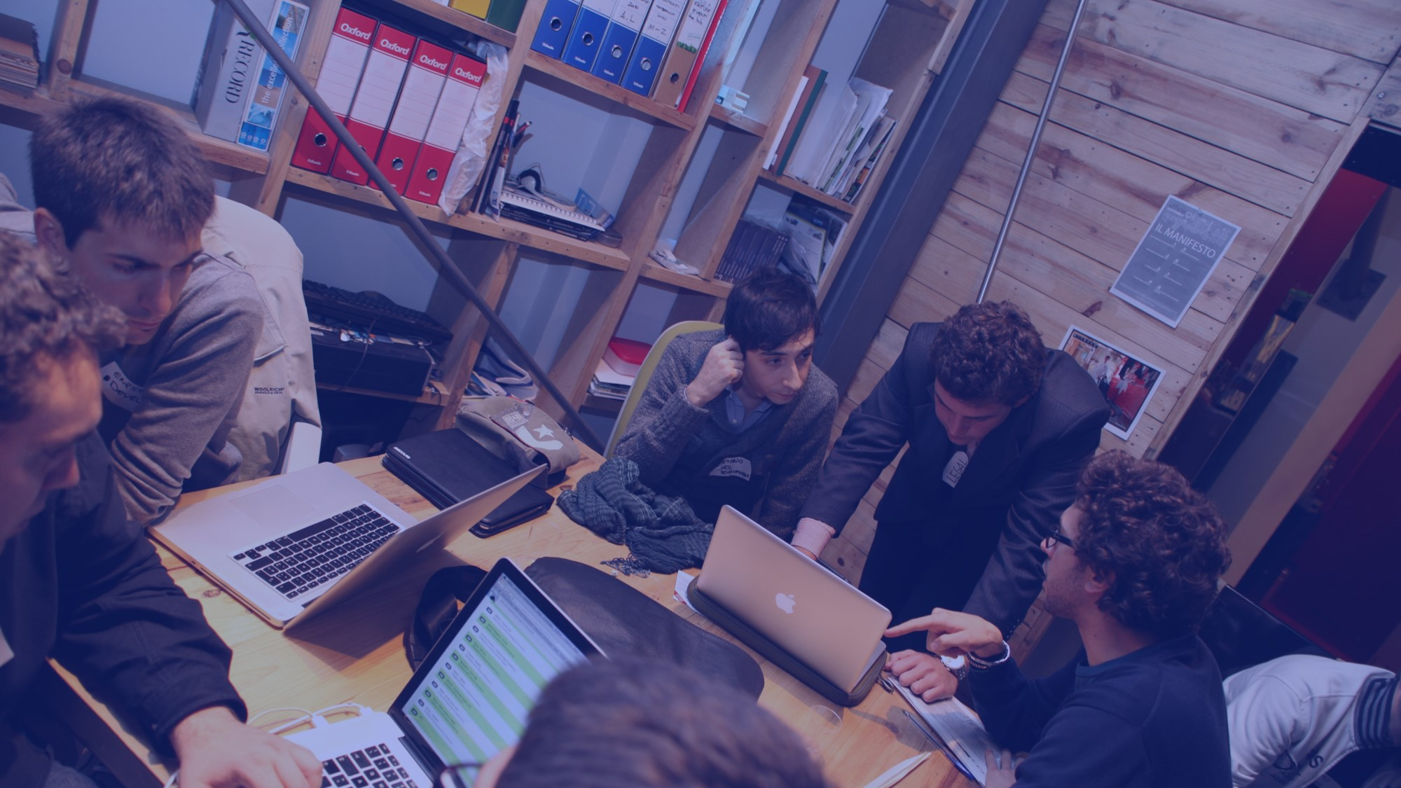 Equipe trabalhando