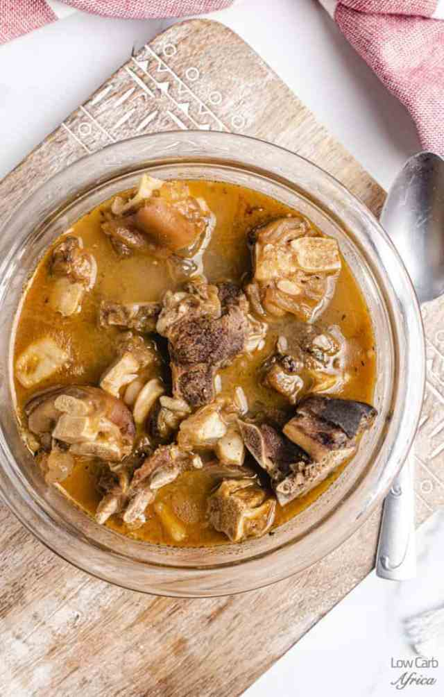 bowl of Nigerian goat meat pepper soup