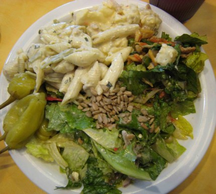 A bounteous salad plate