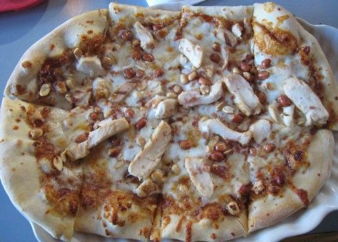 The Thai Chicken Pizza at Saggio's