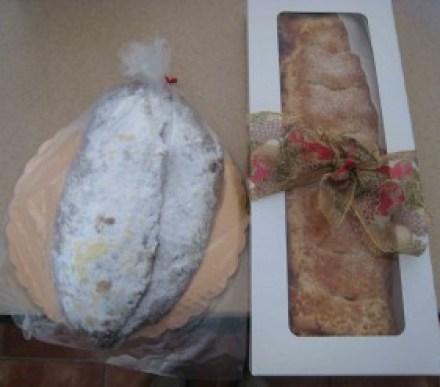 Traditional German Christmas Stollen and Lemon Raspberry Strudel