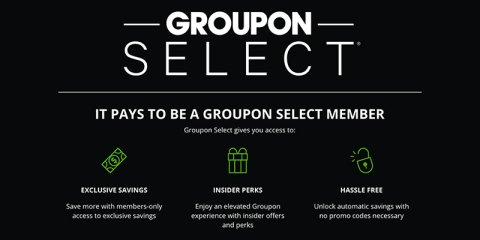 Groupon Select membership launches with special discounts and perks for insiders