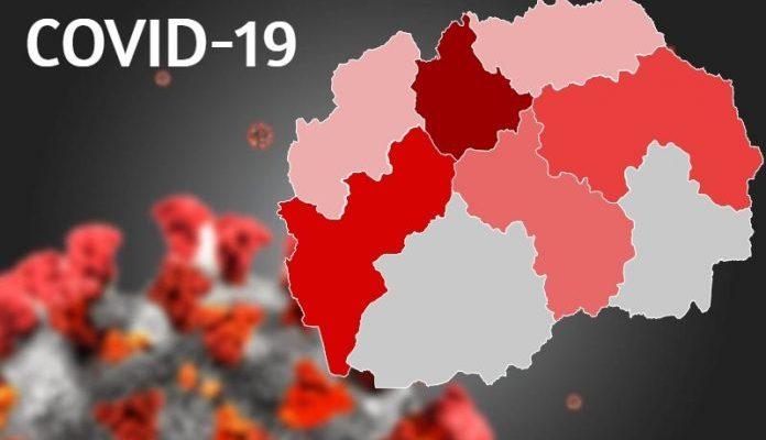 Ja sa të infektuar janë regjistruar sot nga Covid-19 në Maqedoni