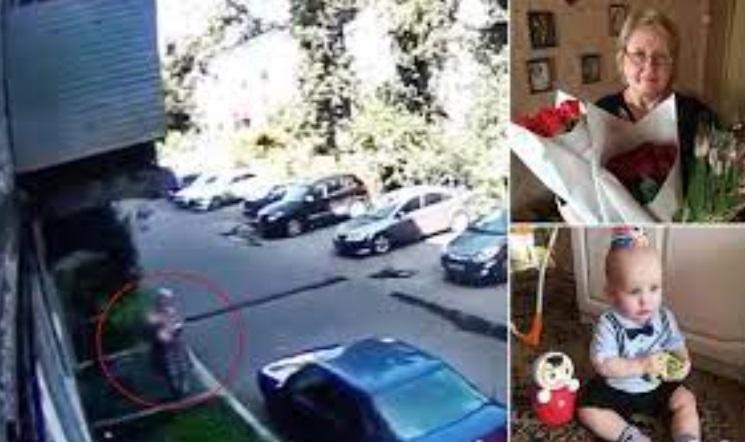 E moshuara ruse shpëton fëmijën, priti djalin që ra nga 20 metra lartësi (VIDEO)