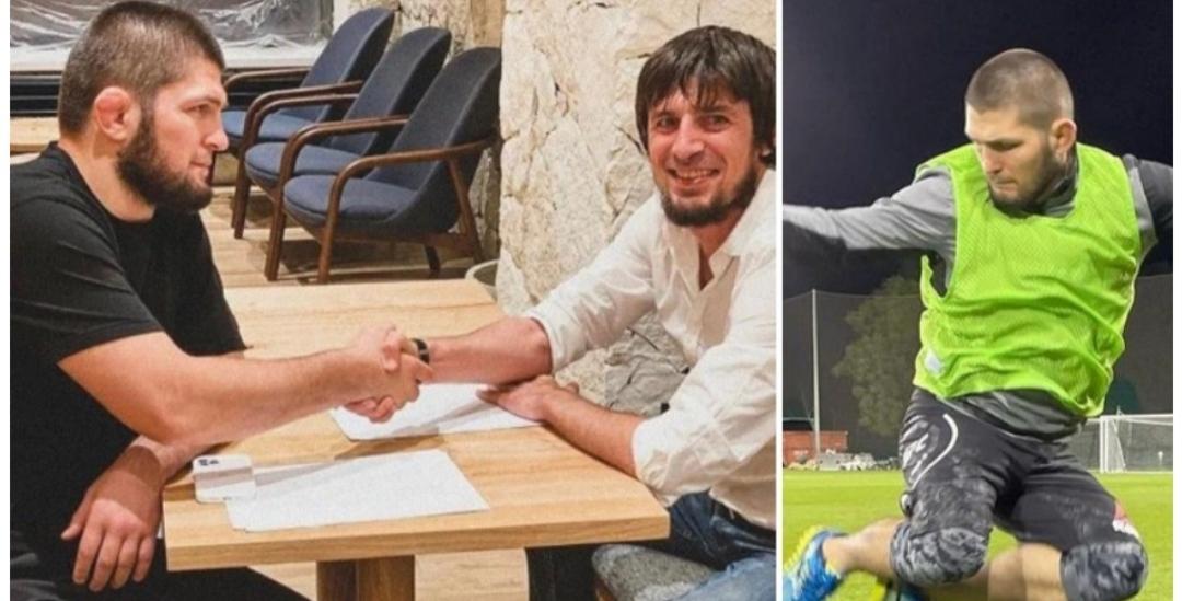 Legjenda e MMA zyrtarisht futbollist, Khabib firmos me klubin e ligës së tretë ruse