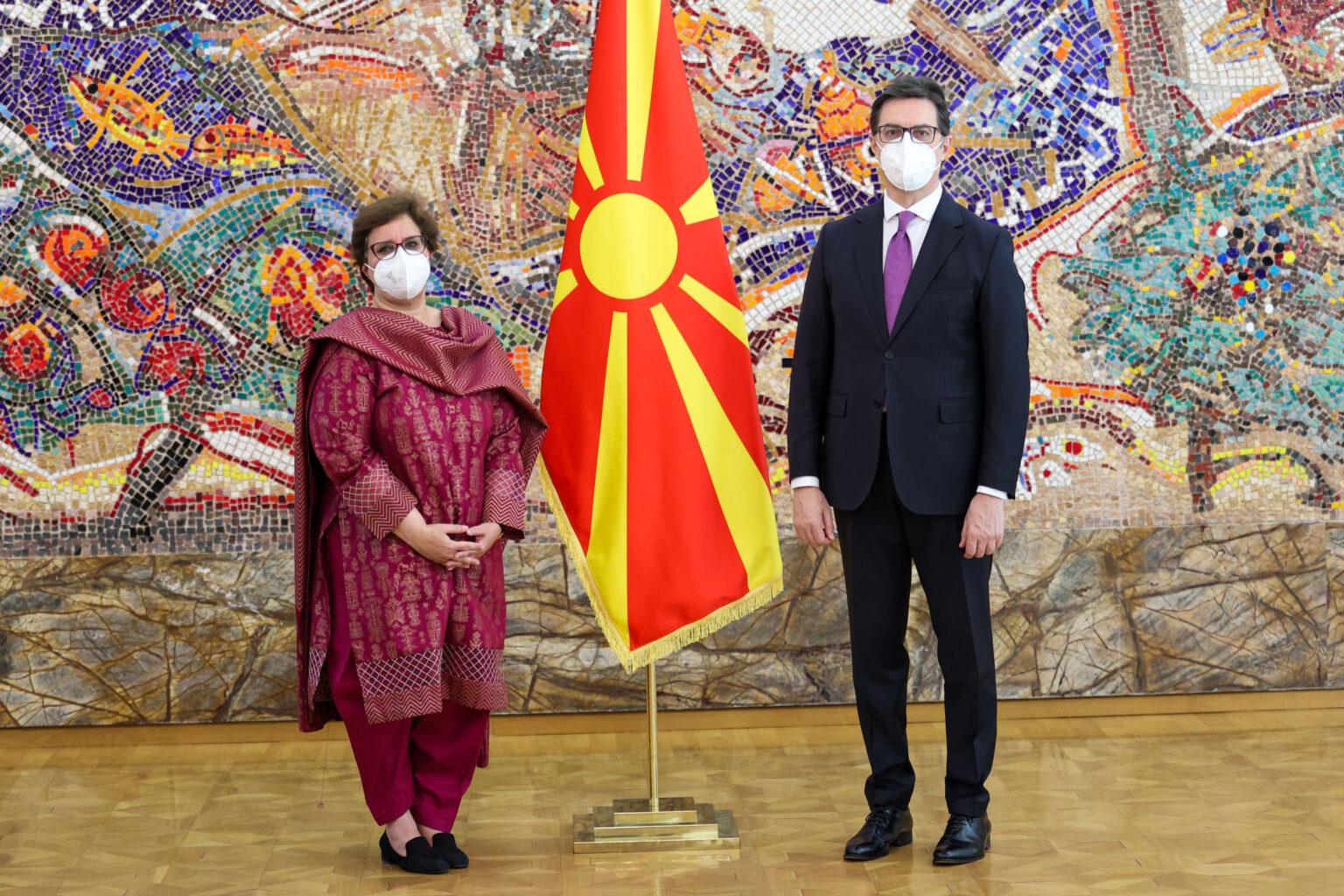 Pendarovski i pranoi letrat kredenciale të ambasadores së re të Pakistanit, Miriam Madiha Aftab