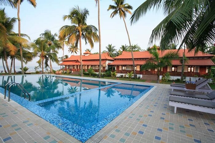 A view of the pool at the Cocobay Resort