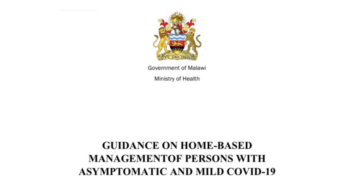 Guidance On Home-Based Management of Persons With Asymptomatic and Mild COVID-19