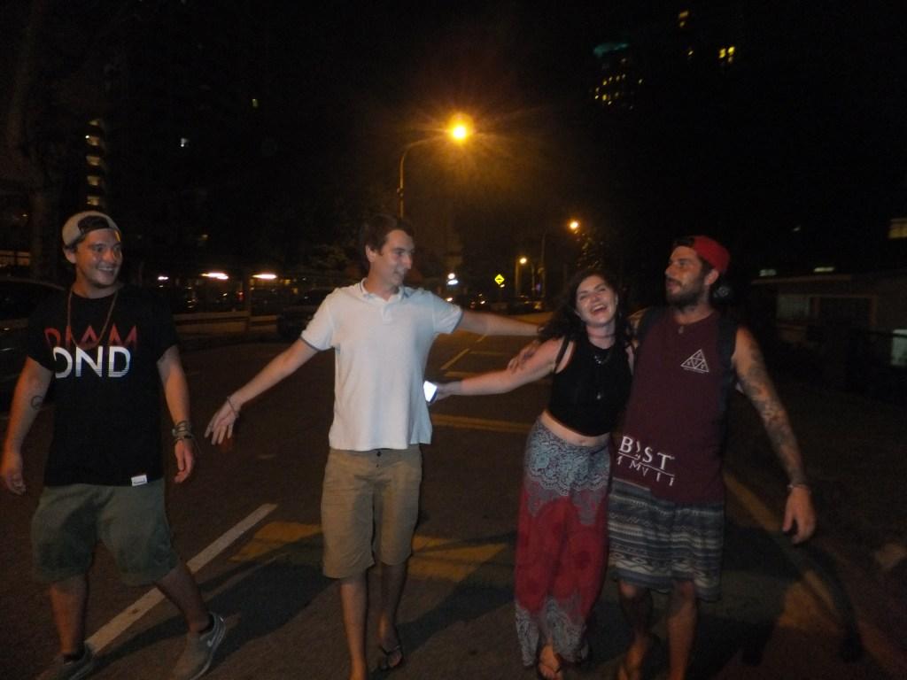 Friends travelling Kuala Lumpur