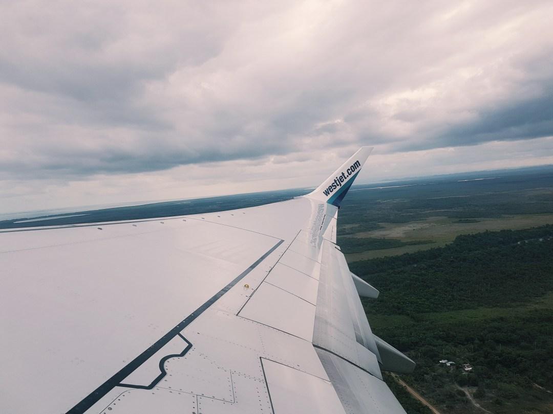 Leaving Belize City via WestJet