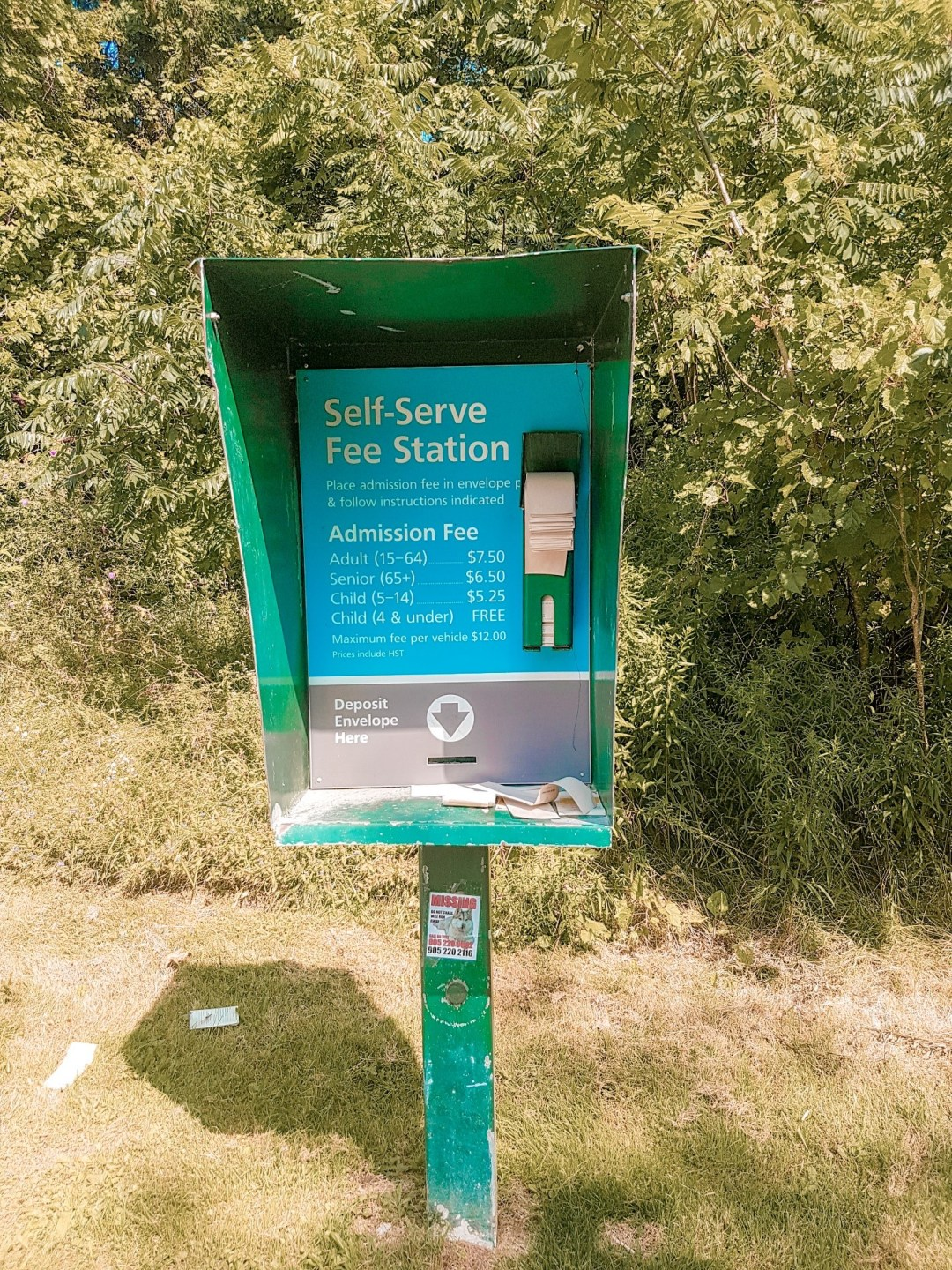 Pay station for Robert Edmondson Park