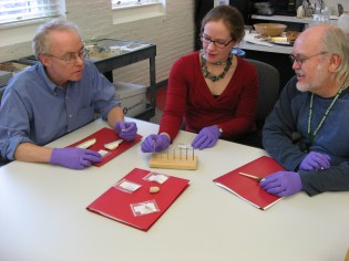 NMSC staff sharing information about artifacts with NPS park staff. (NMSC photo)