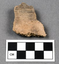 Middle Woodland decorated neck sherd from the archeology collection at DEWA.