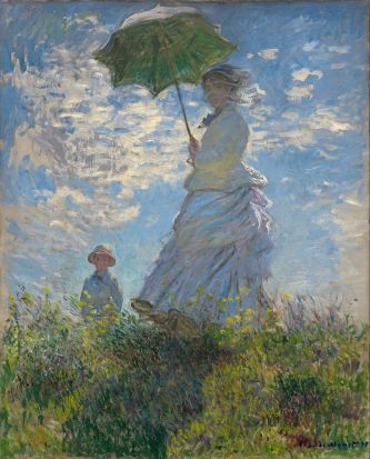 "Claude Monet's ""Woman with a Parasol,"" 1875. National Gallery of Art."