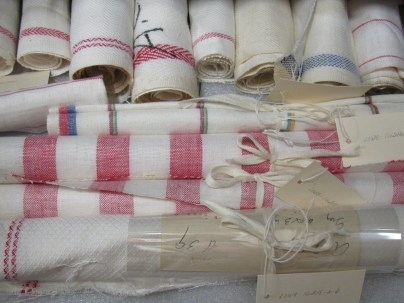 Textiles made at the Boott Mill, in the museum collection at Lowell National Historical Park.