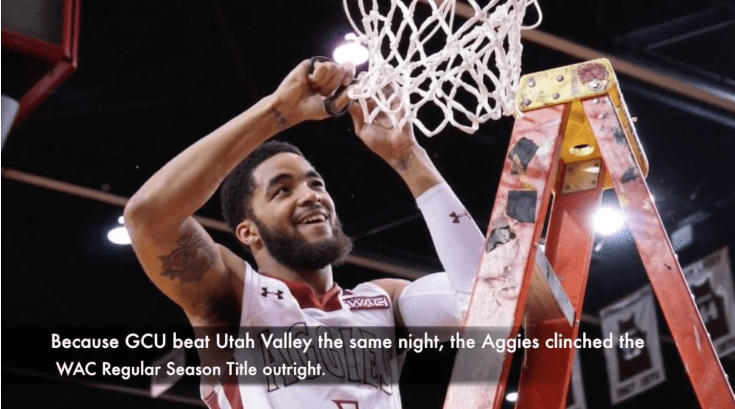 Video Nmsu Basketball Beats Umkc On Senior Night