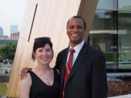 Ryanne Shuey of PNC Financial Services Group and Dale Royal of Invest Atlanta attend event at the Center for Civil and Human Rights