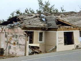 Housing damaged by Katrina