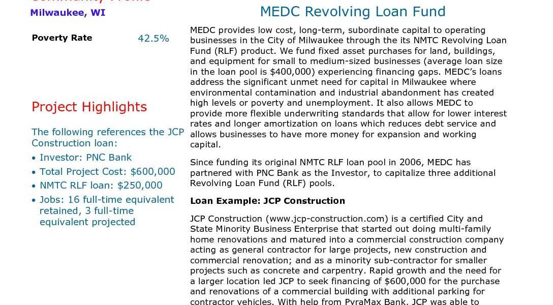 MEDC Revolving Loan Fund
