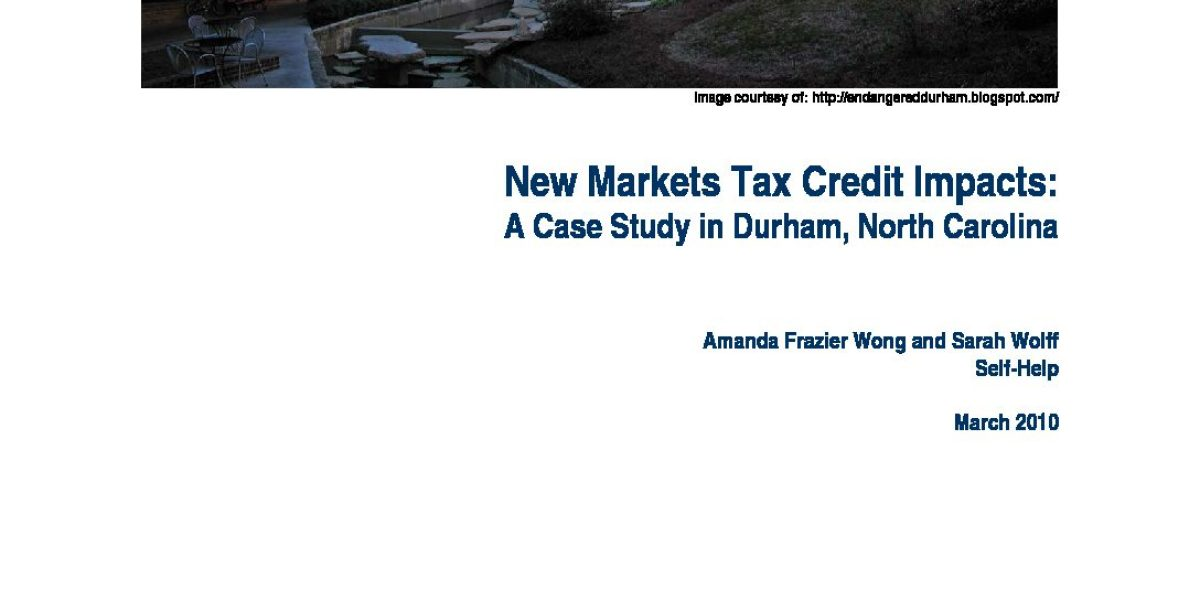 Downtown Durham Case Study