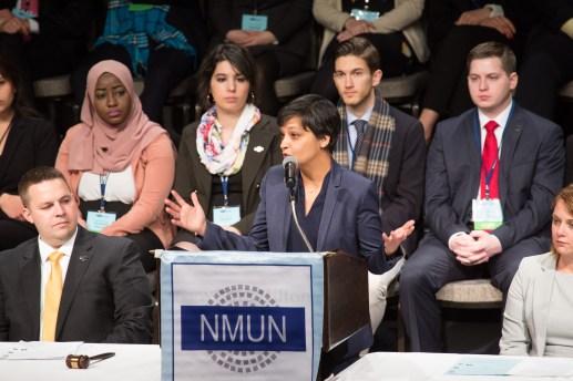 Keynote speaker Hina Shamsi