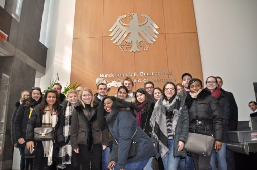 Photo of the delegation in the permanent mission Germany to the UN