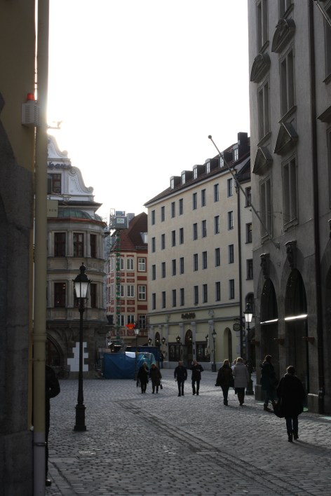 "Heading into Altstadt, the ""Old City"""