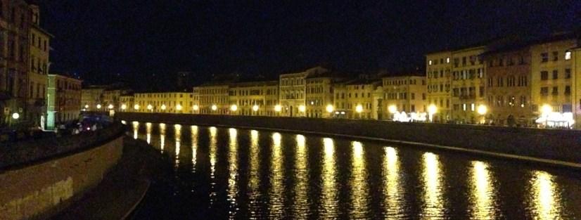 The Arno at night