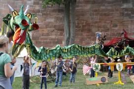 A kids' dragon parade