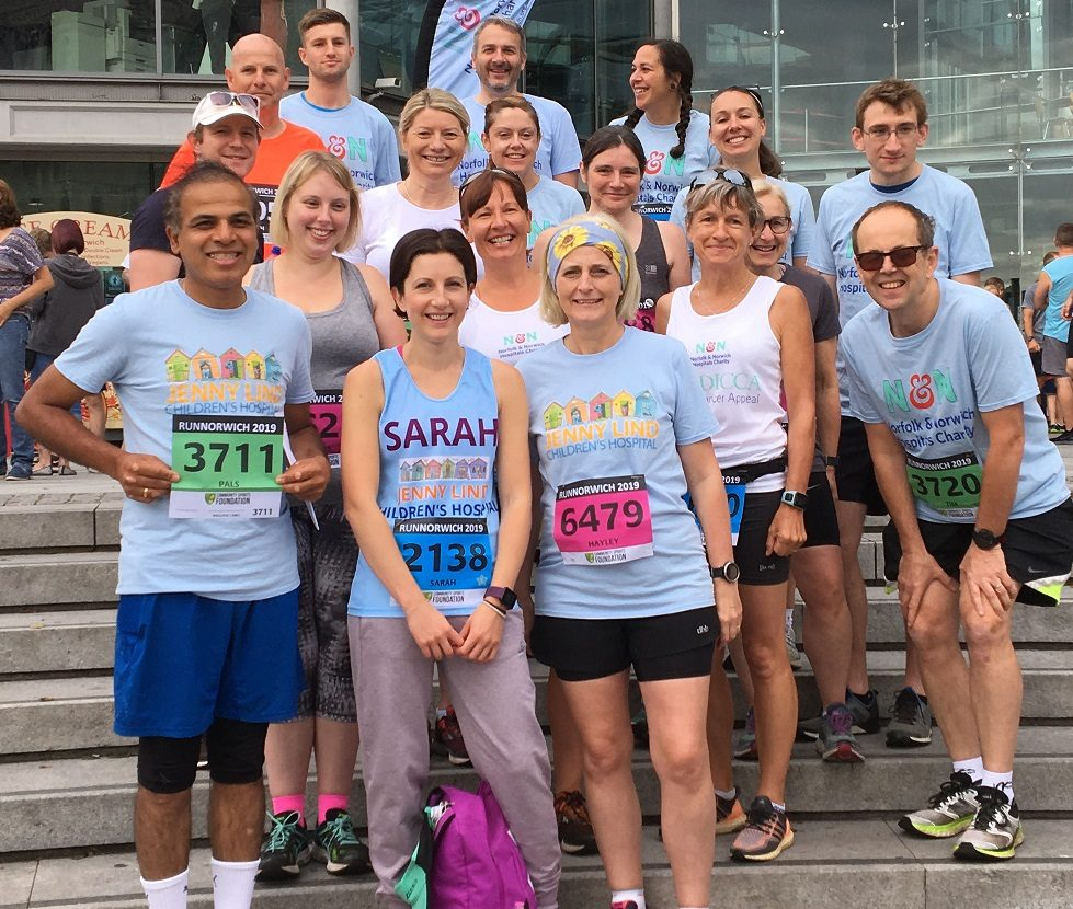 Hospital charity team completes RunNorwich