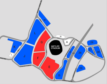 Map of Meadowlands