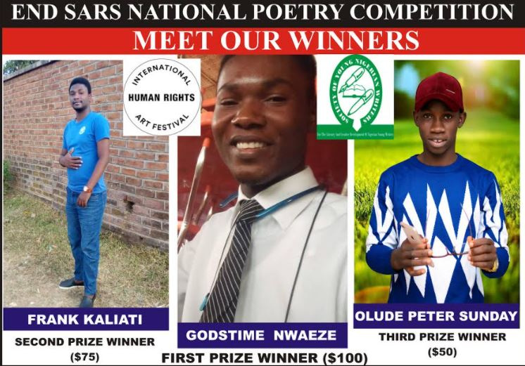 END SARS: Winners Emerged at the National Poetry Competition