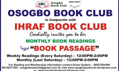 Osogbo Book Club Partners With Ihraf Book Club, Commences Advocacy In Reading In Osun State