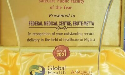 SafeCare Public Facility Award of the year will spur FMC Ebute-Metta to greater heights — MD