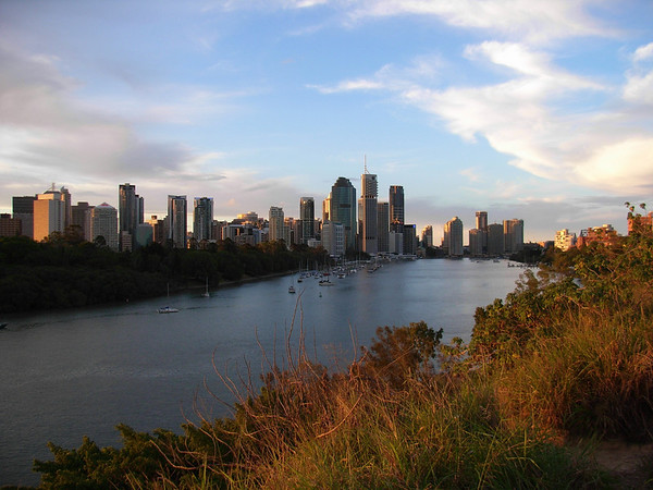 The Business End of Brisbane City, from Kangaroo Point Cliffs