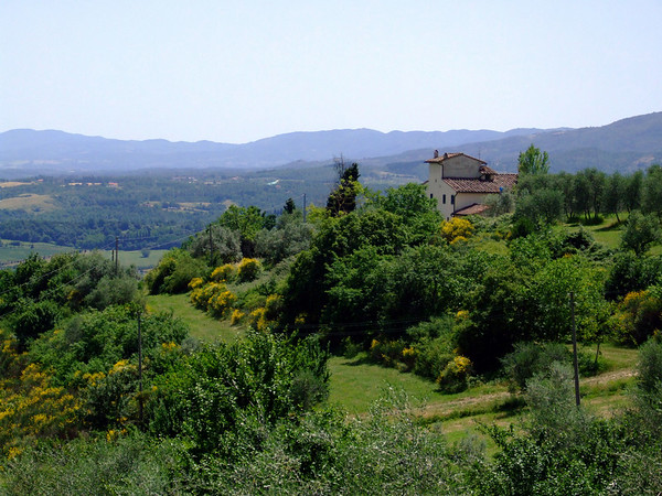 A postcard-esque image: the Tuscan Countryside and the house we stayed in.