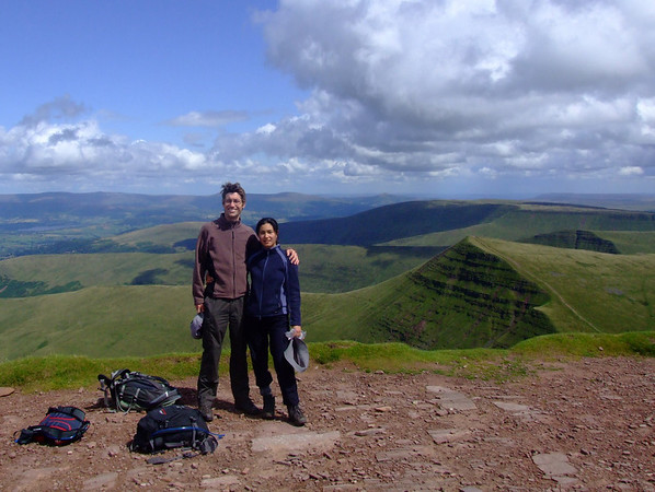 Us on the summit of Pen y Fan, in the sun!