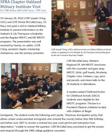 SFBA Chapter Oakland Military Institute Visit