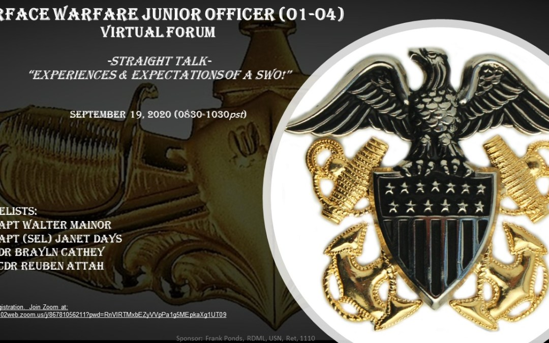 Surface Warfare Junior Officer Forum in September