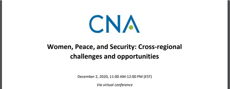Women, Peace, and Security: Cross-regional challenges and opportunities – Dec 2