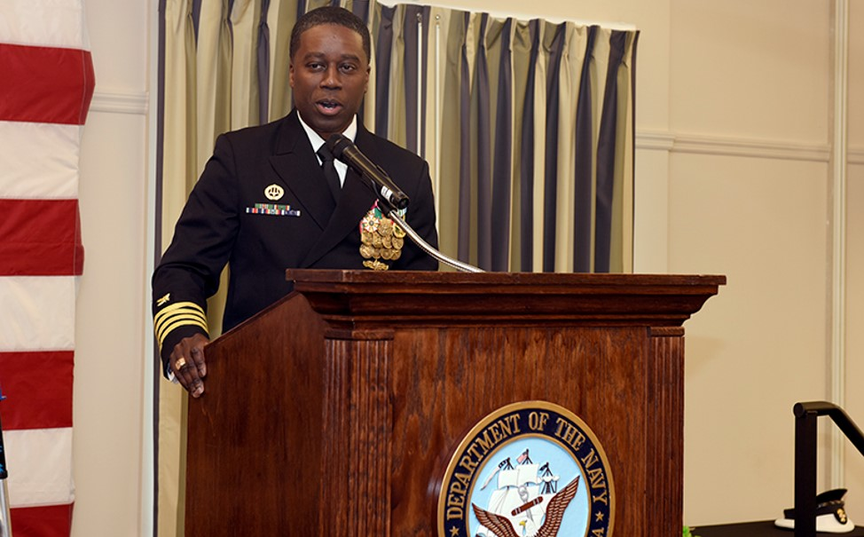 Capt. Milton Troy III (MBA '02) buoys support-related training as a commanding officer in the U.S. Navy