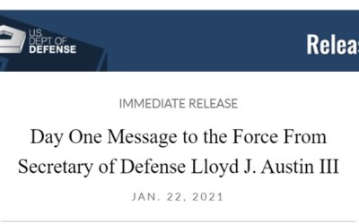 Day One Message to the Force From Secretary of Defense Lloyd J. Austin III