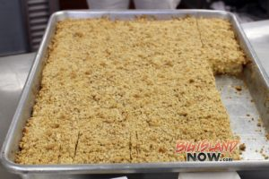 Fresh bananas will be served in a Banana Pie or a Banana Crumble (pictured above) at every public school cafeteria in January.