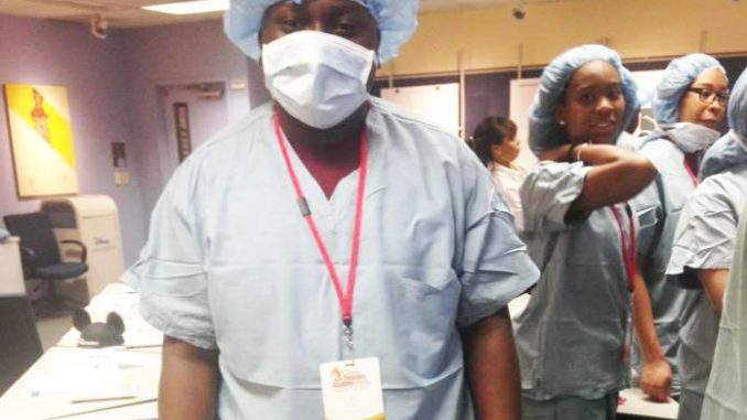 2015 FLORIDA DISNEY DREAMERS Academy student Keno Tate participates in an immersion workshop for medicine. Tate is now a Sophomore at Bethune Cookman University studying Political Science.