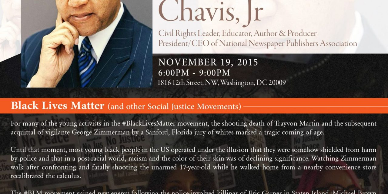 Black Lives Matter Lecture Series, Featuring Dr. Benjamin Chavis Jr.