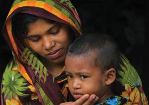 woman and child in Dhaka