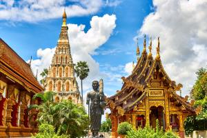 temple and statues in thailand